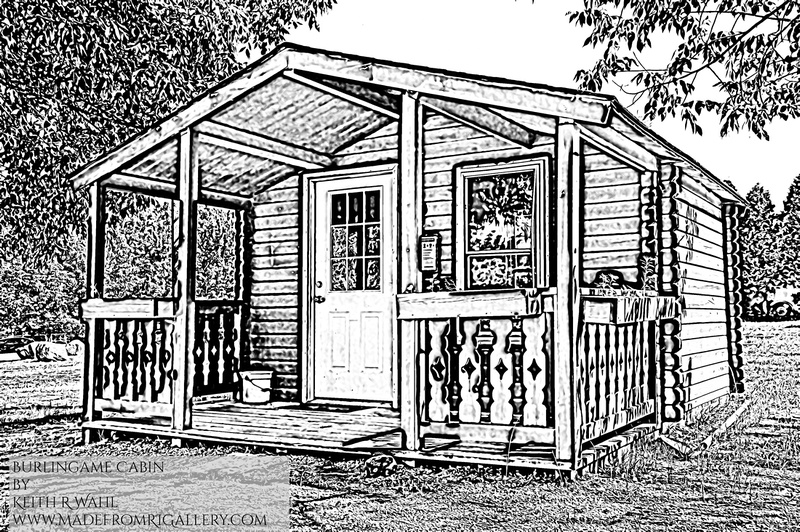 Burlingame Cabin Coloring Page